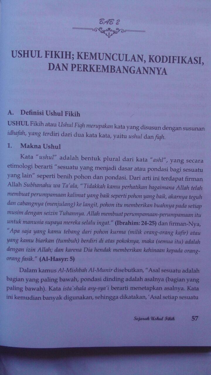 Buku Sejarah Ushul Fikih 59.000 20% 47.200 Pustaka Al-Kautsar Prof. DR. Musthafa Sa'id Al-Khin isi 2
