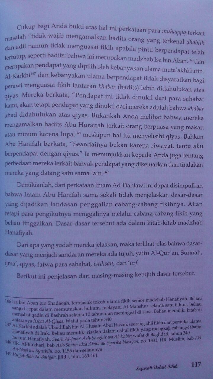 Buku Sejarah Ushul Fikih 59.000 20% 47.200 Pustaka Al-Kautsar Prof. DR. Musthafa Sa'id Al-Khin isi