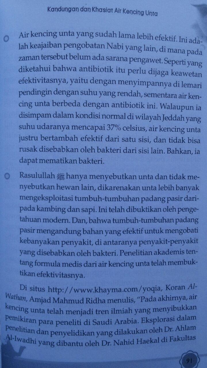 Buku Sembuh Dengan Air Kencing Unta 26.000 15% 22.100 Kiswah Media Syihab Al-Badri Yasin isi