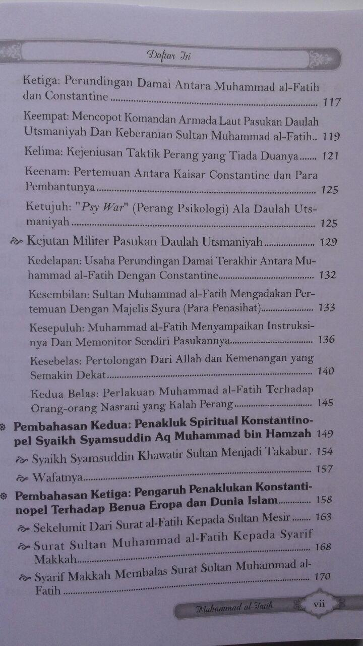 Buku Sultan Muhammad Al-Fatih Sang Penakluk Konstantinopel 40.000 15% 34.000 Darul Haq DR. Ali Muhammad Ash-Shallabi isi 2
