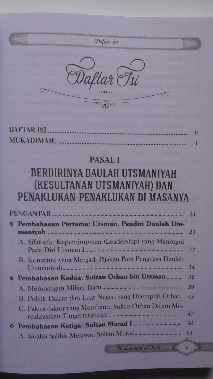 Buku Sultan Muhammad Al-Fatih Sang Penakluk Konstantinopel 40.000 15% 34.000 Darul Haq DR. Ali Muhammad Ash-Shallabi isi 4
