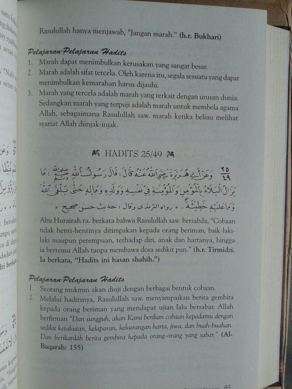 Buku Syarah Dan Terjemah Riyadhus Shalihin 1 Set 2 Jilid isi 2