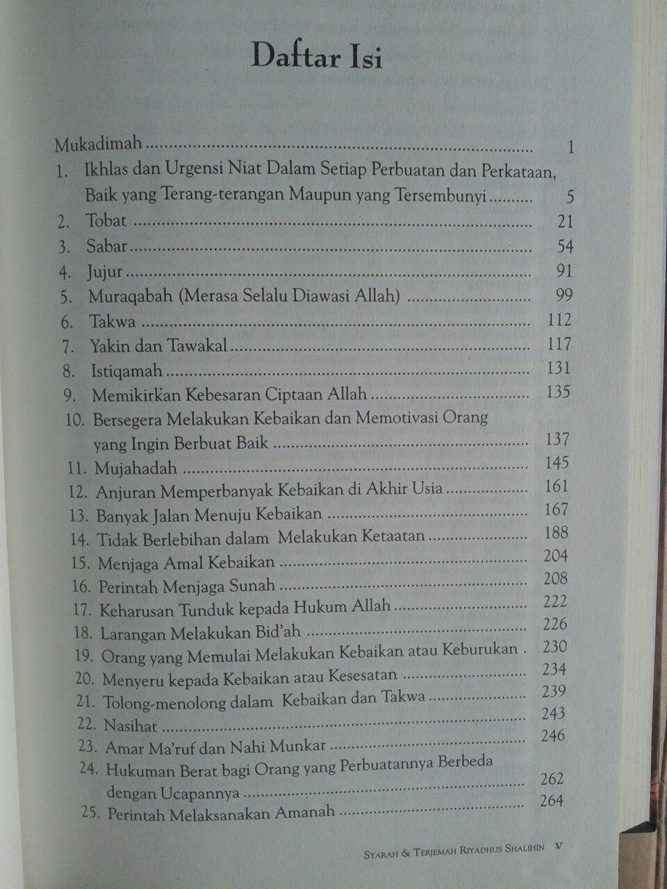 Buku Syarah Dan Terjemah Riyadhus Shalihin 1 Set 2 Jilid isi 4
