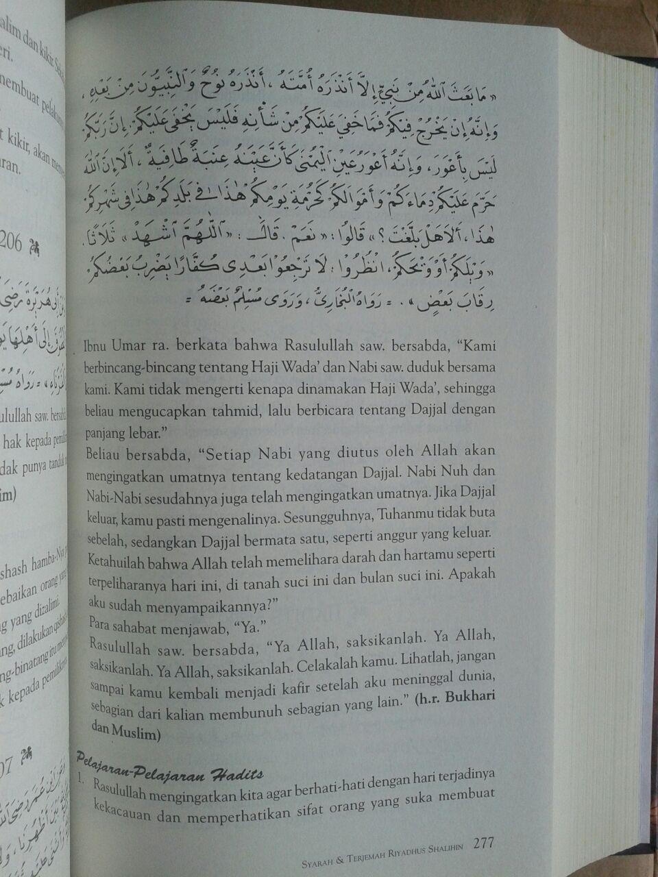 Buku Syarah Dan Terjemah Riyadhus Shalihin 1 Set 2 Jilid isi