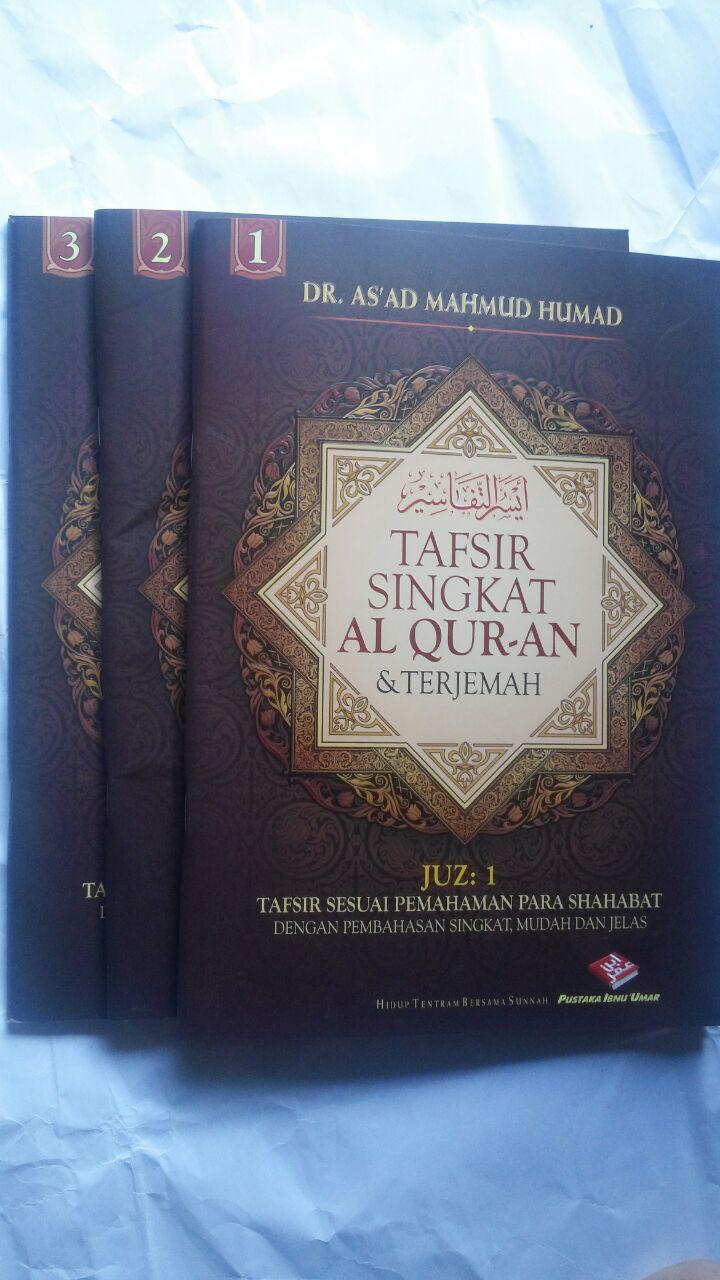 Buku Tafsir Singkat Al-Quran Dan Terjemah Kecil Set 30 Jilid 450.000 25% 337.500 Pustaka Ibnu Umar DR. As'ad Mahmud Humad cover 3