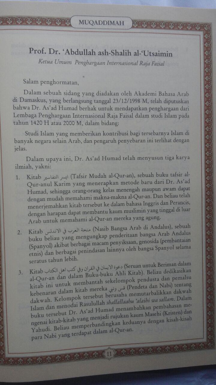 Buku Tafsir Singkat Al-Quran Dan Terjemah Kecil Set 30 Jilid 450.000 25% 337.500 Pustaka Ibnu Umar DR. As'ad Mahmud Humad isi 3