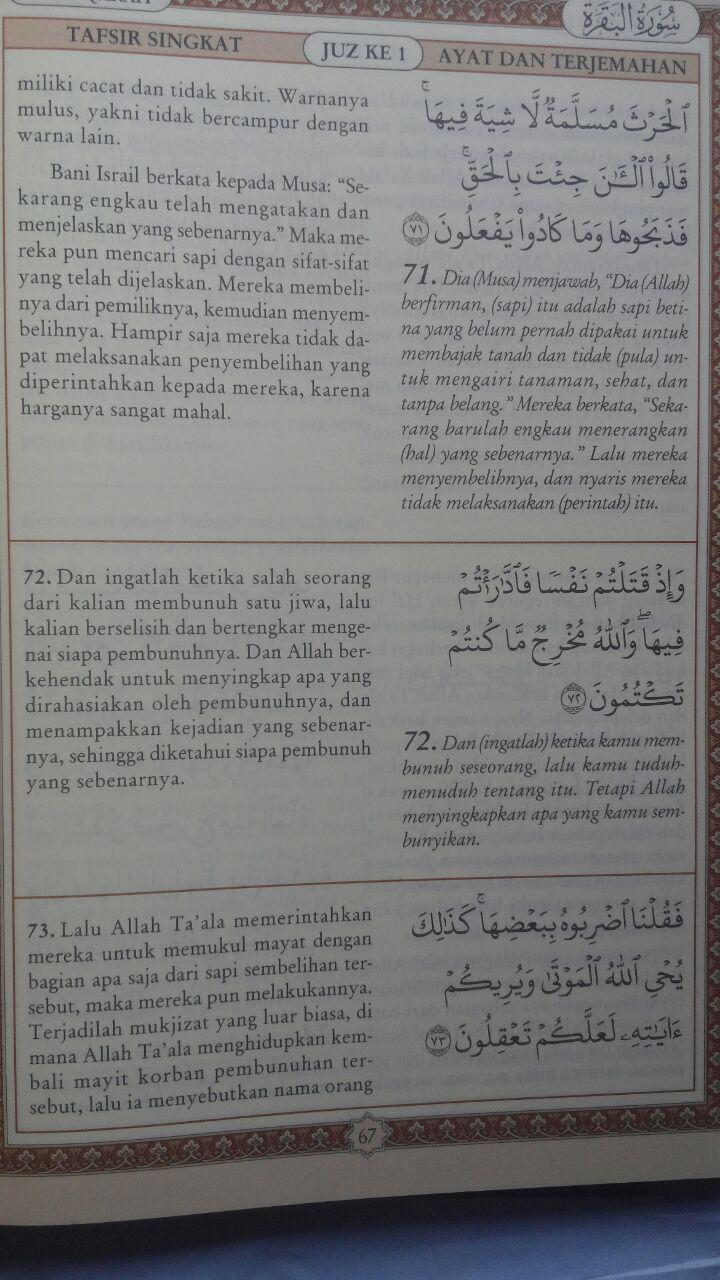 Buku Tafsir Singkat Al-Quran Dan Terjemah Kecil Set 30 Jilid 450.000 25% 337.500 Pustaka Ibnu Umar DR. As'ad Mahmud Humad isi 4