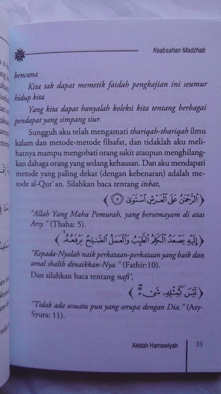 Buku Talkhis Al-Hamawiyah Penjelasan Aqidah Asma Wa Shifat 25.000 15% 21.250 Pustaka Imam Bonjol isi 3