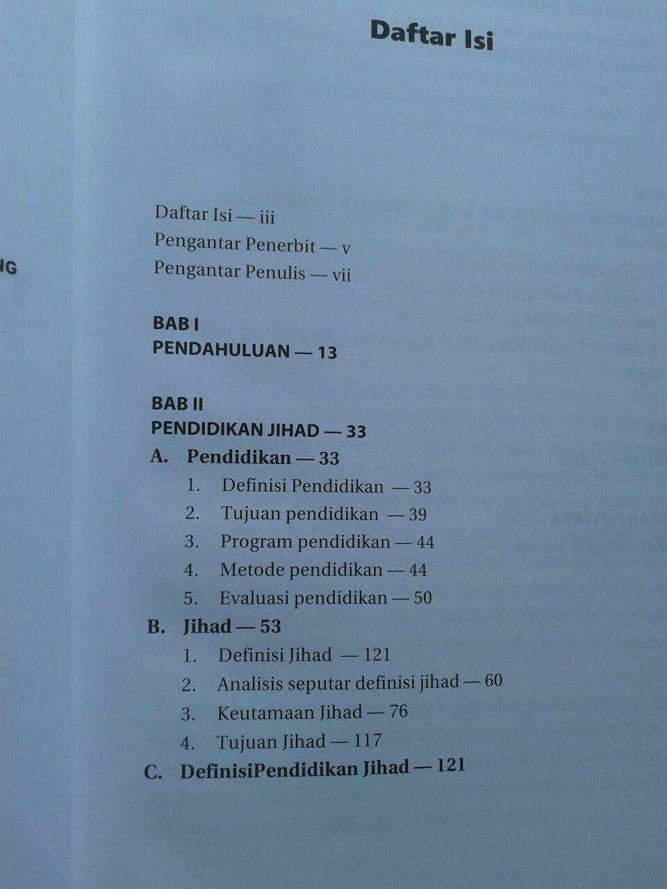 Buku Tarbiyah Jihadiyah Imam Bukhari isi 3