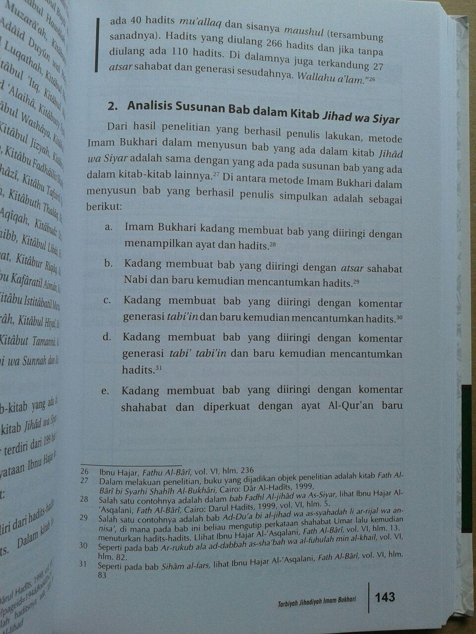 Buku Tarbiyah Jihadiyah Imam Bukhari isi