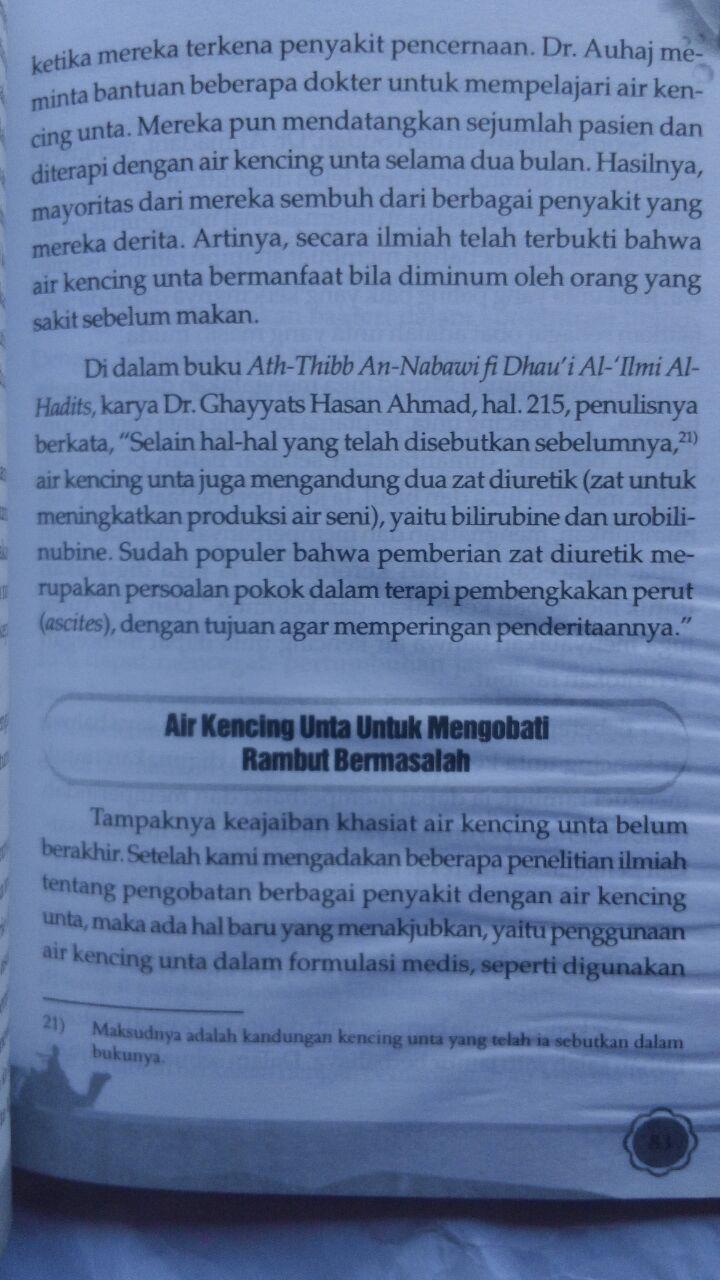 Buku Terapi Susu Unta 27.000 15% 22.950 Kiswah Media Syihab Al-Badri Yasin isi