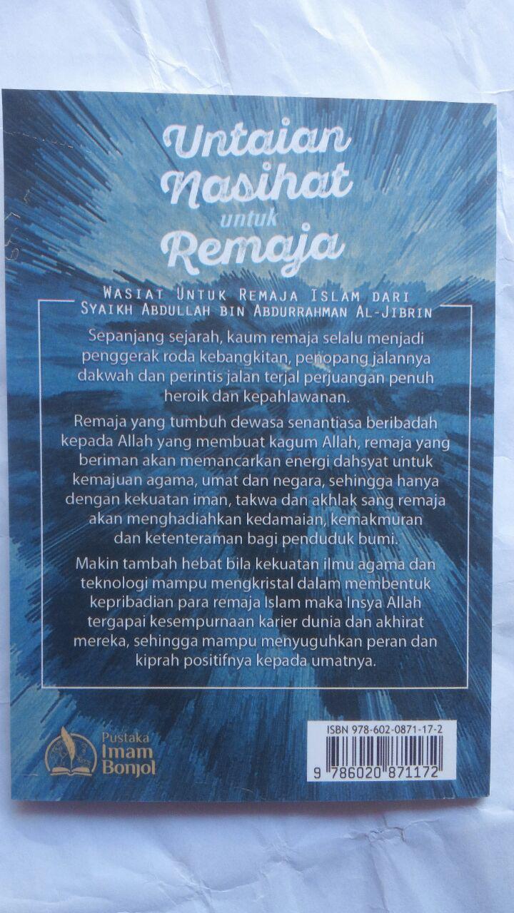 Buku Untaian Nasihat Untuk Remaja 5.000 15% 4.250 Pustaka Imam Bonjol cover 2