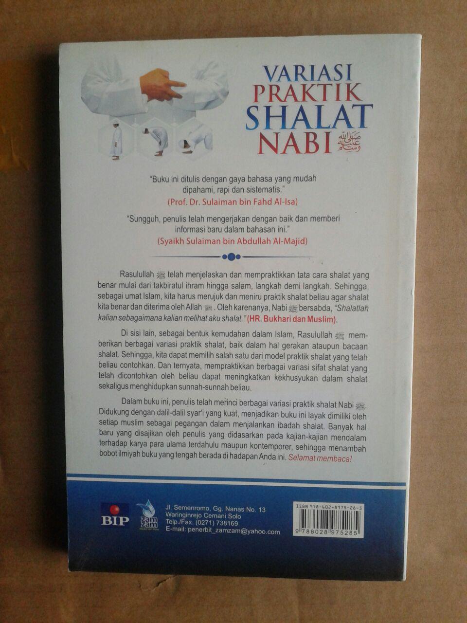 Buku Variasi Praktik Shalat Nabi Kajian Lengkap Shalat cover 2