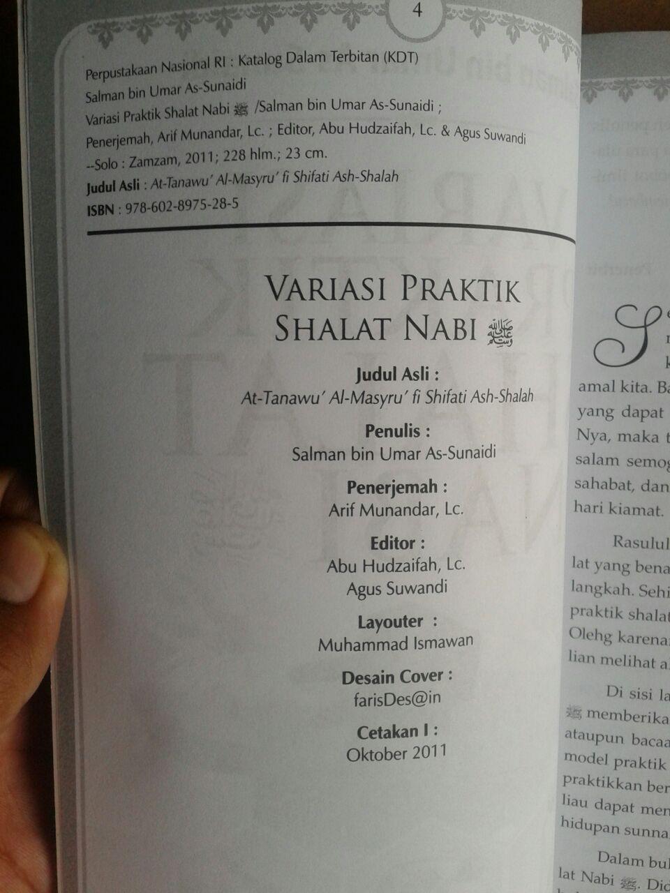 Buku Variasi Praktik Shalat Nabi Kajian Lengkap Shalat isi 4