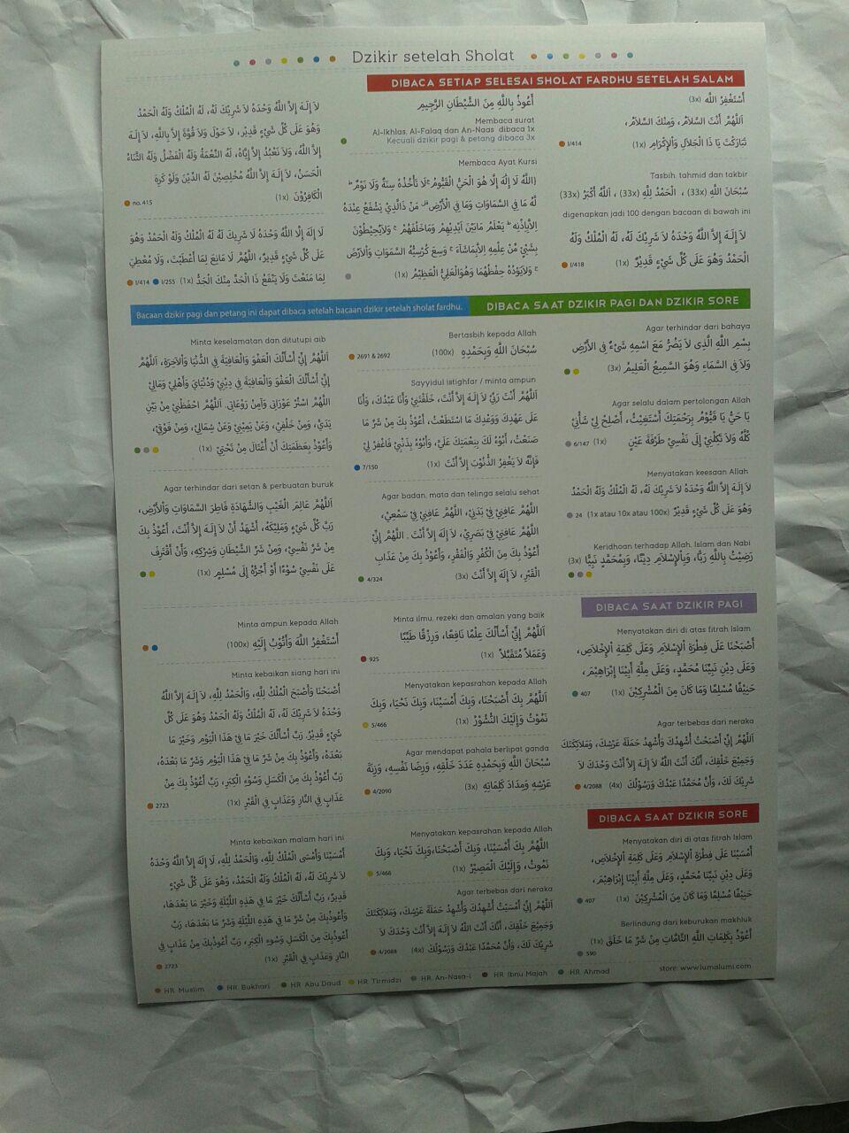 Poster Dzikir Setelah Sholat 12,000 10% 10,800 Luma Lumi 2