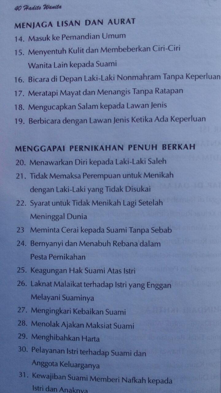 Buku 40 Hadits Wanita Bunga Rampai Hadits Fikih Dan Akhlak 89.000 20% 71.200 Aqwam Syaikh Muhammad Asy-Syarif isi 2