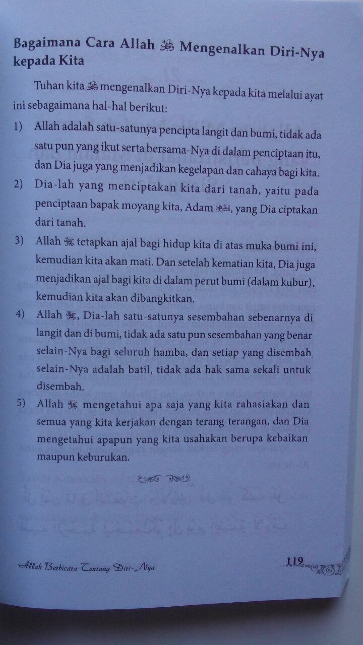 Buku Allah Berbicara Tentang Diri-Nya 75.000 20% 60.000 Pustaka Al-Kautsar Prof. DR. Umar Sulaiman Al-Asyqar isi 3