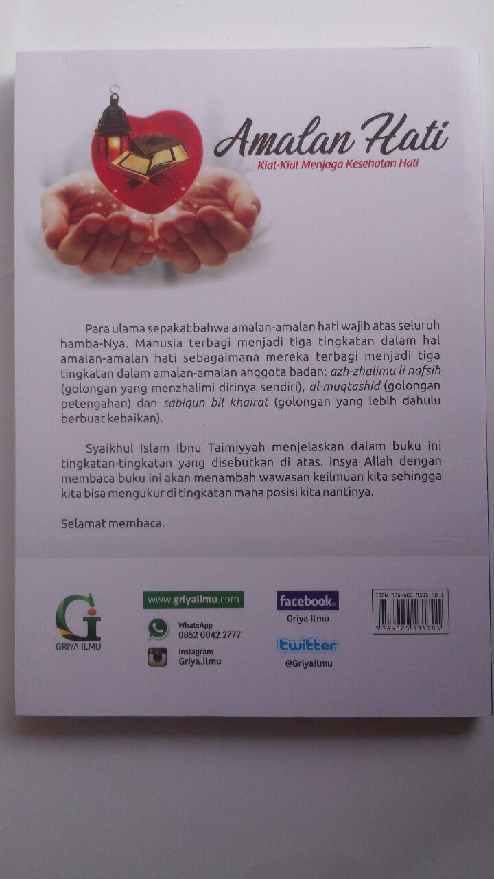 Buku Amalan Hati Kiat-Kiat Menjaga Kesehatan Hati 31.000 15% 26.350 Griya Ilmu Syaikhul Islam Ibnu Taimiyyah cover