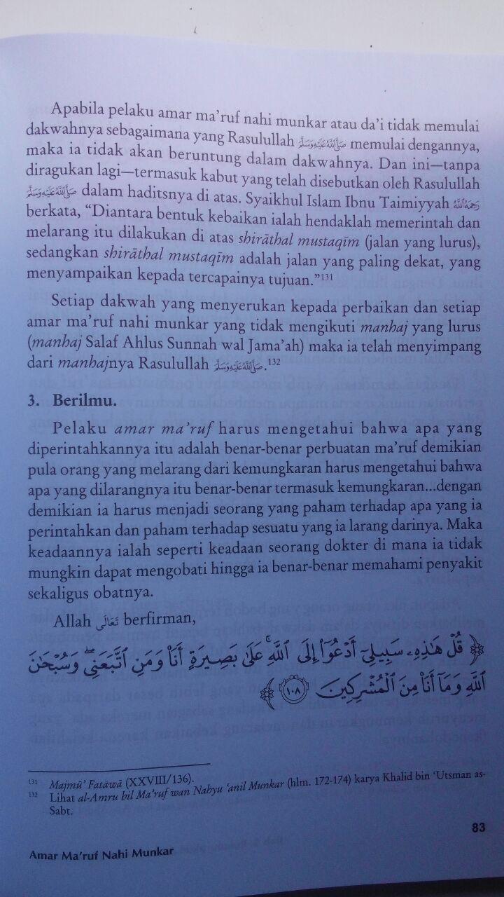 Buku Amar Maruf Nahi Munkar Menurus Ahlus Sunnah Wal Jamaah 88.000 20% 70.400 Khazanah Fawaid Yazid bin Abdul Qadir Jawas isi 3