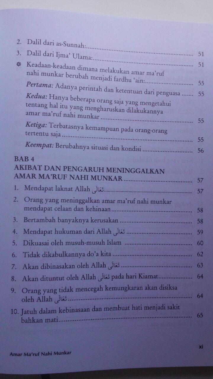 Buku Amar Maruf Nahi Munkar Menurus Ahlus Sunnah Wal Jamaah 88.000 20% 70.400 Khazanah Fawaid Yazid bin Abdul Qadir Jawas isi