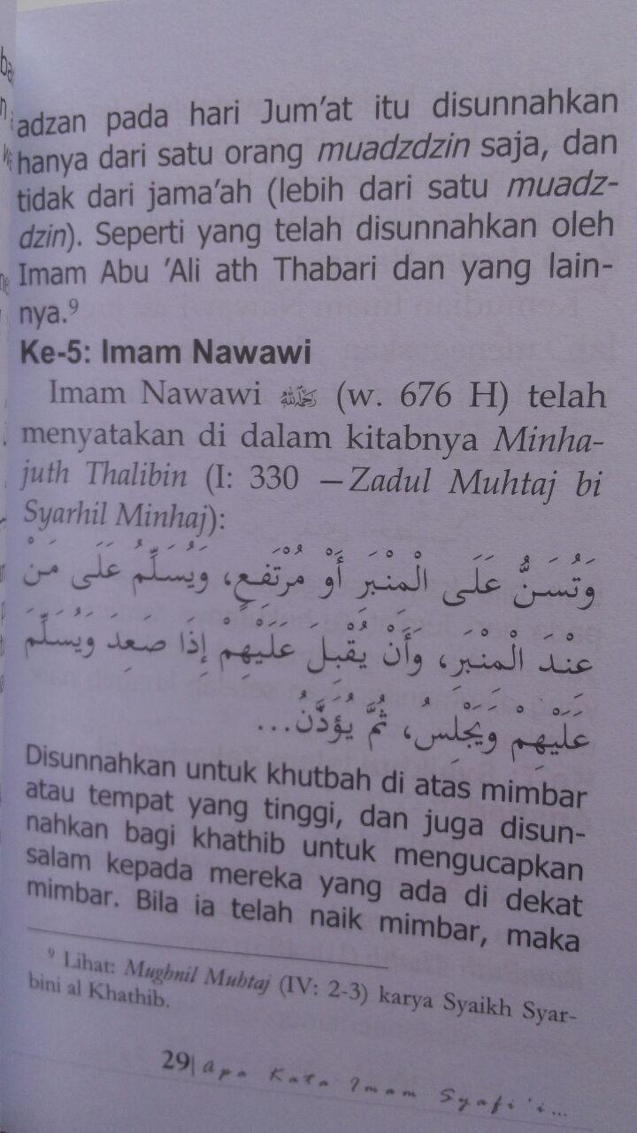 Buku Apa Kata Imam Syafi'i Tentang Adzan Jum'at Dua Kali 12.000 15% 10.200 Maktabah Muawiyah Bin Abi Sufyan Abdul Hakim bin Amir Abdat isi 3