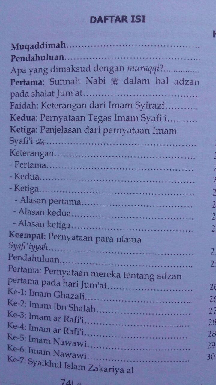 Buku Apa Kata Imam Syafi'i Tentang Adzan Jum'at Dua Kali 12.000 15% 10.200 Maktabah Muawiyah Bin Abi Sufyan Abdul Hakim bin Amir Abdat isi