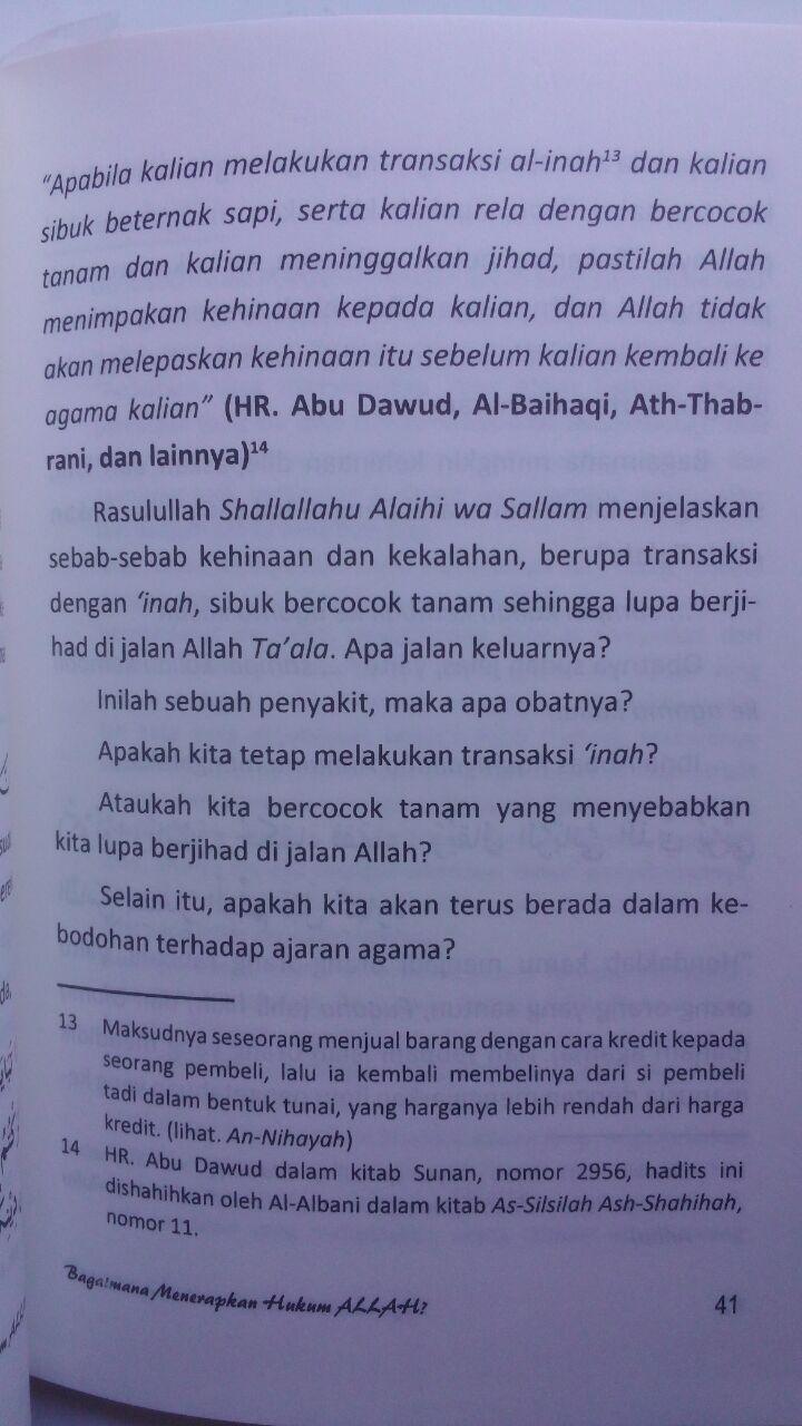 Buku Bagaimana Menerapkan Hukum Allah 15.000 15% 12.750 Darus Sunnah Husain bin Audah Al-Awayisyah isi 3