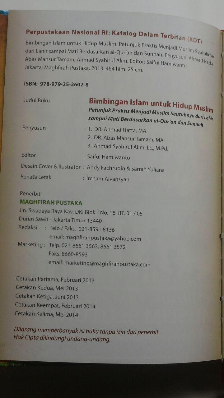 Buku Bimbingan Islam Untuk Hidup Muslim 235.000 20% 188.000 Pustaka Maghfirah isi 3