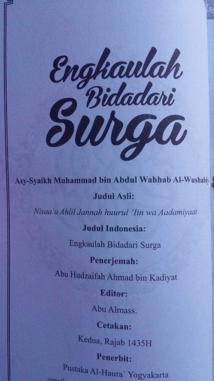 Buku Engkaulah Bidadari Surga 30.000 15% 25.500 Pustaka Al-Haura Muhammad bin Abdul Wahhab Al-Wushabiy isi 3