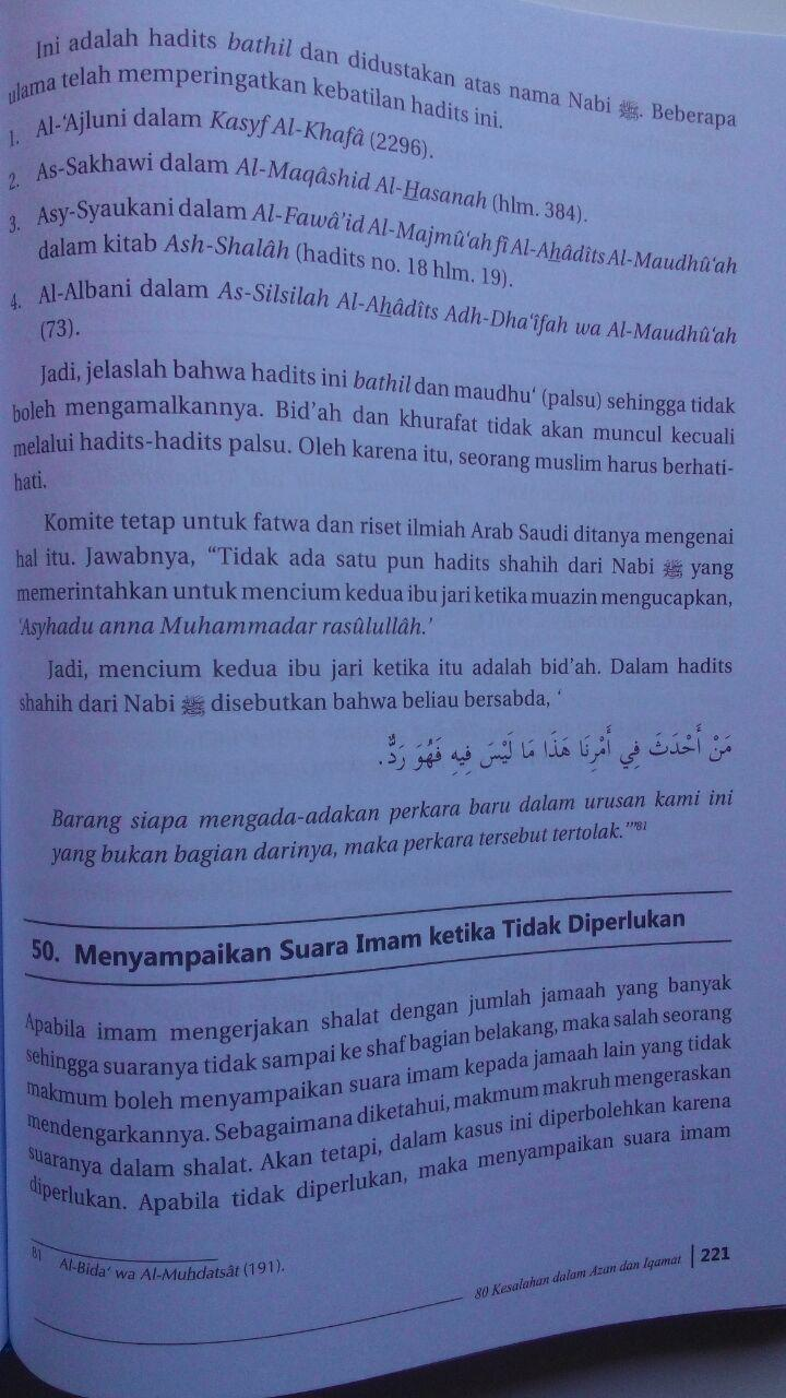 Buku Ensiklopedi Kesalahan Dalam Ibadah 95.000 20% 76.000 Ummul Qura Syaikh Wahid Abdus Salam Bali isi 4