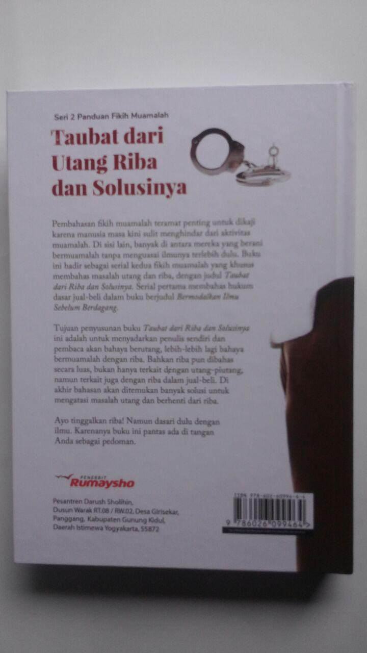 Buku Fikih Muamalah Taubat Dari Utang Riba Dan Solusinya 125.000 20% 100.000 Rumaysho cover