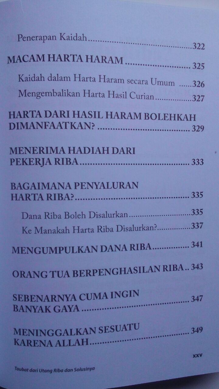 Buku Fikih Muamalah Taubat Dari Utang Riba Dan Solusinya 125.000 20% 100.000 Rumaysho isi 2