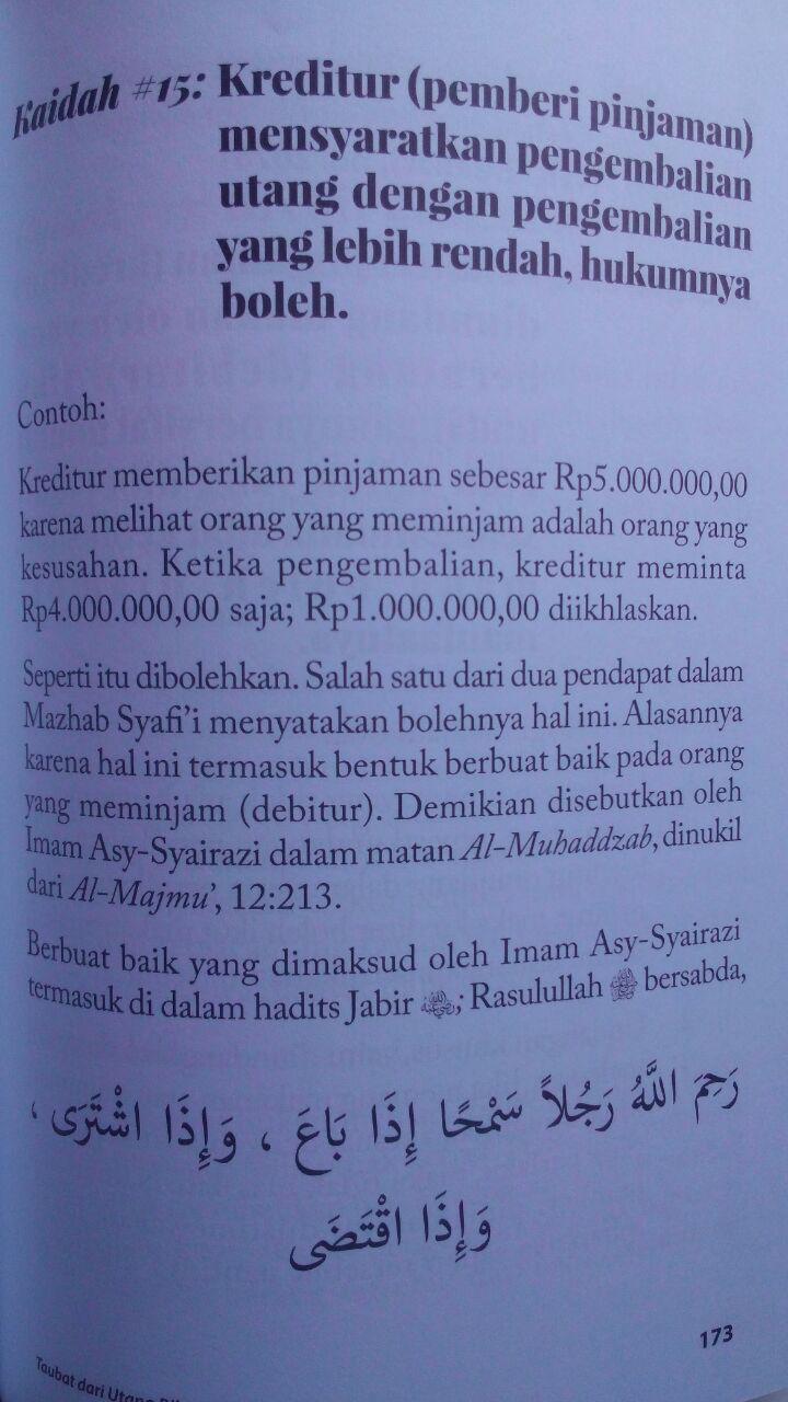 Buku Fikih Muamalah Taubat Dari Utang Riba Dan Solusinya 125.000 20% 100.000 Rumaysho isi 3