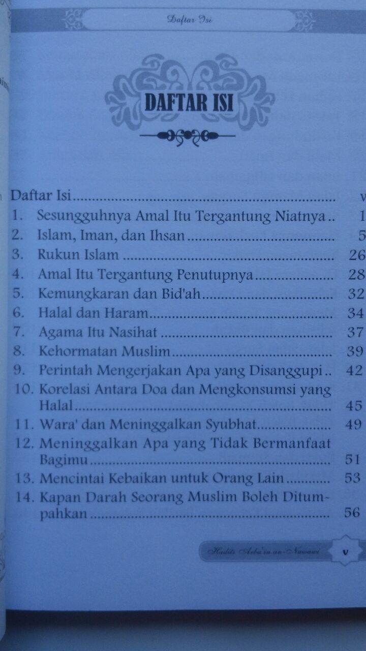 Buku Hadits Arba'in An-Nawawi Terjemah Intisari Kandungan Hadits 17.000 15% 14.450 Darul Haq Imam An-Nawawi isi 2