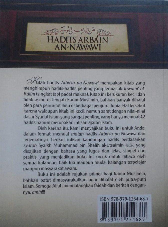 Buku Hadits Arba'in An-Nawawi Terjemah Intisari Kandungan Hadits 17.000 15% 14.450 Darul Haq Imam An-Nawawi isi 4