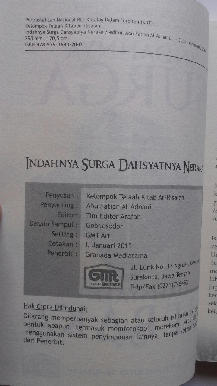 Buku Indahnya Surga Dahsyatnya Neraka 60.000 20% 48.000 Granada Mediatama Abu Fatiah Al-Adnani isi 4