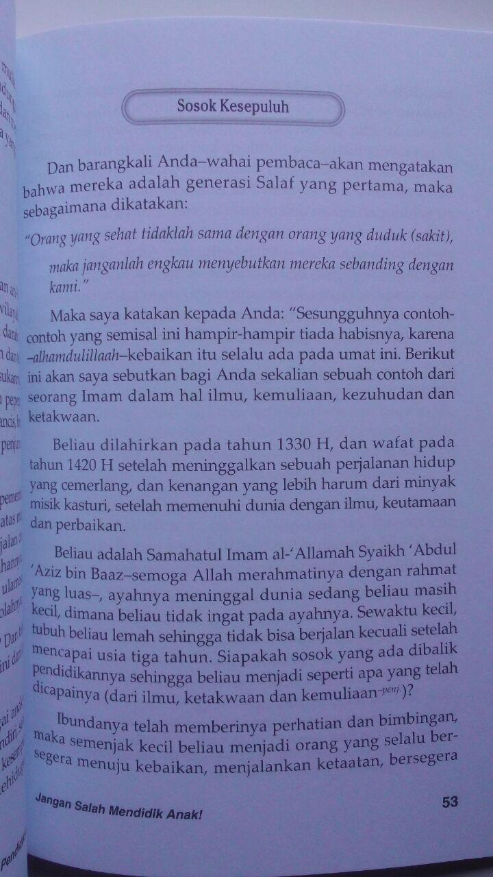 Buku Jangan Salah Mendidik Anak Kiat Mencetak Anak Shalih 25.000 15% 21.250 Media Tarbiyah DR. Muhammad bin Ibrahim Al-Hamd isi 3