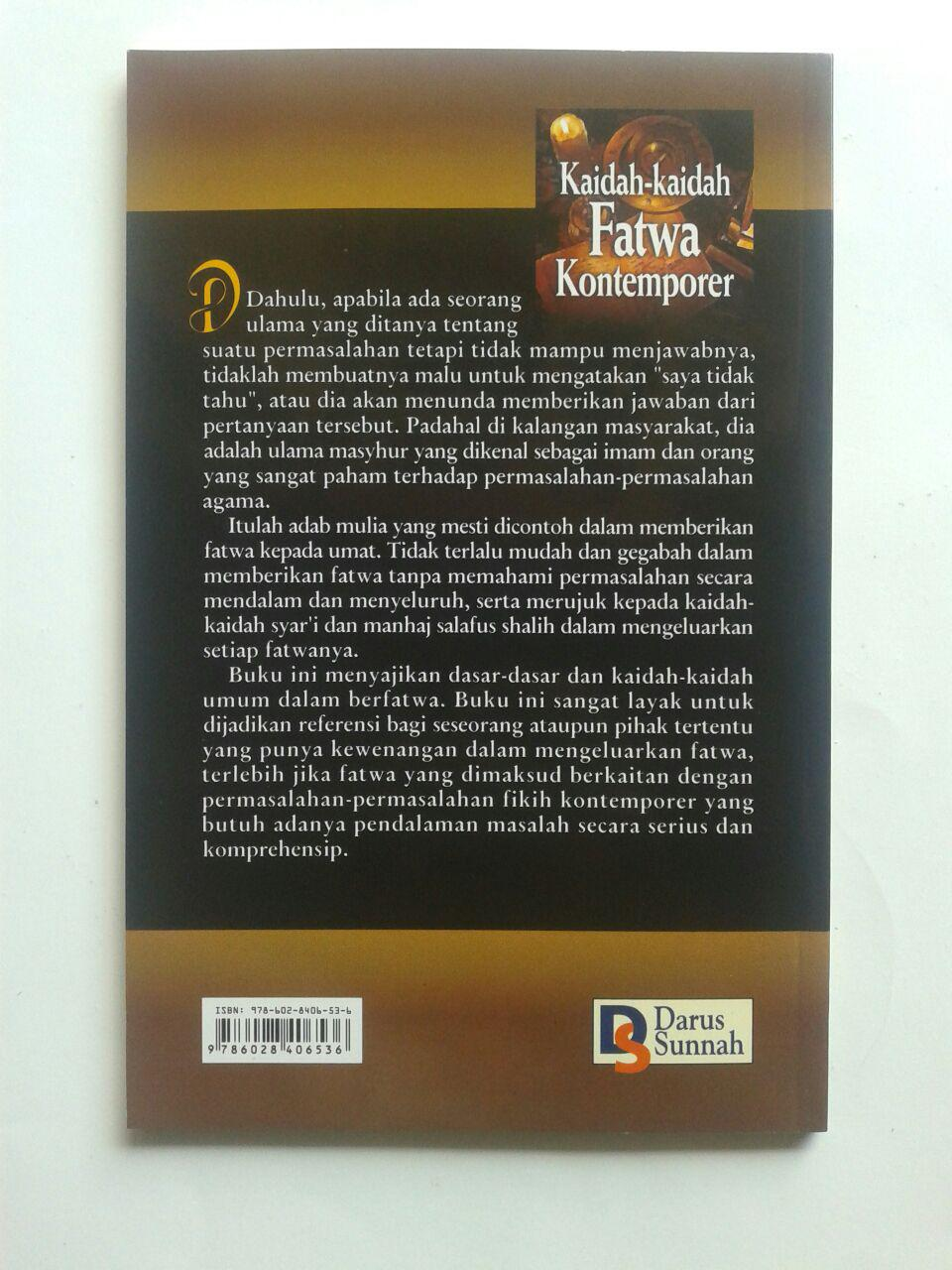 Buku Kaidah-Kaidah Fatwa Kontemporer 19.000 15% 16.150 Darus Sunnah DR. Husain Bin Abdul Aziz Alu Syaikh cover