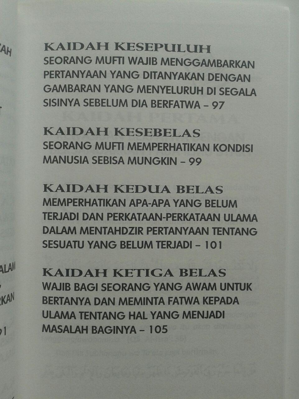 Buku Kaidah-Kaidah Fatwa Kontemporer 19.000 15% 16.150 Darus Sunnah DR. Husain Bin Abdul Aziz Alu Syaikh isi 3