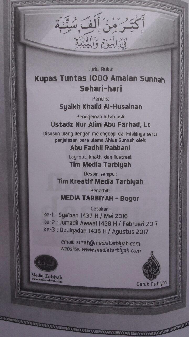 Buku Kupas Tuntas 1000 Amalan Sunnah Sehari-Hari 53.000 20% 42.400 Media Tarbiyah Khalid Al-Husainan isi 4