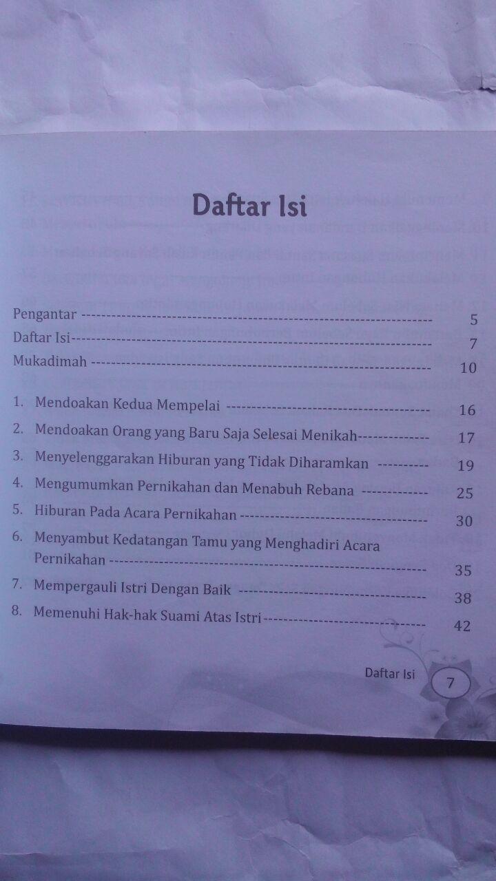 Buku Mesra Sejak Malam Pertama 30 Petunjuk Nabi 20.000 15% 17.000 Pustaka Arafah Majdi Fathi As-Sayyid isi 3
