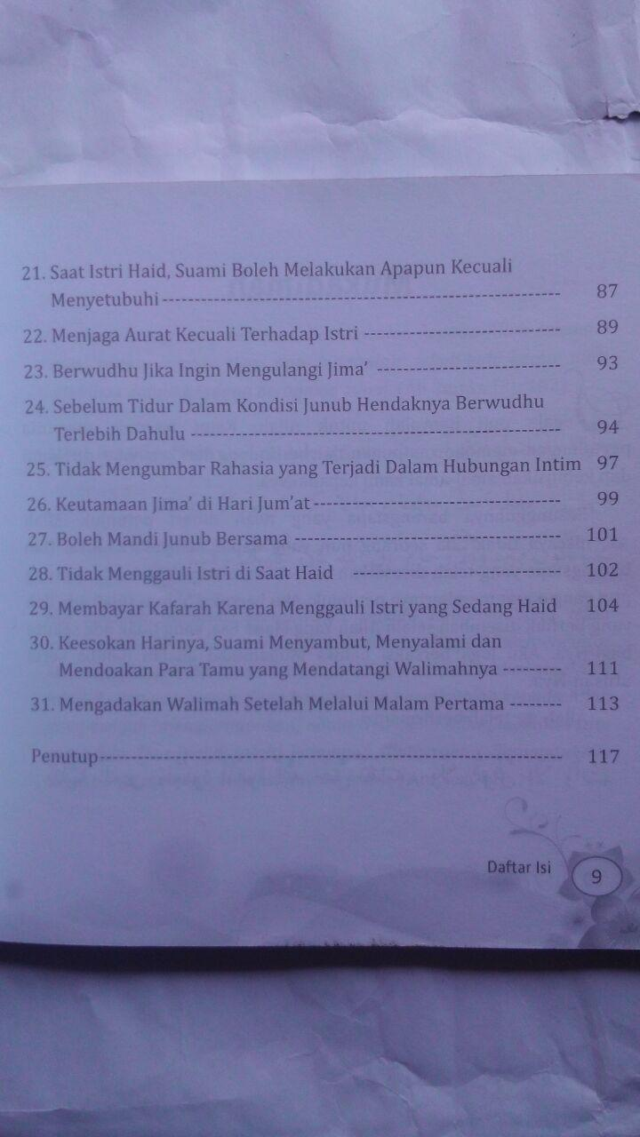 Buku Mesra Sejak Malam Pertama 30 Petunjuk Nabi 20.000 15% 17.000 Pustaka Arafah Majdi Fathi As-Sayyid isi 4