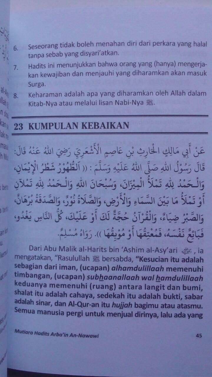 Buku Mutiara Hadits Arbain 42 Hadits Pondasi Agama 17.000 15% 14.450 Media Tarbiyah Abu Abdillah Syahrul Fatwa Al-Atsari isi 3