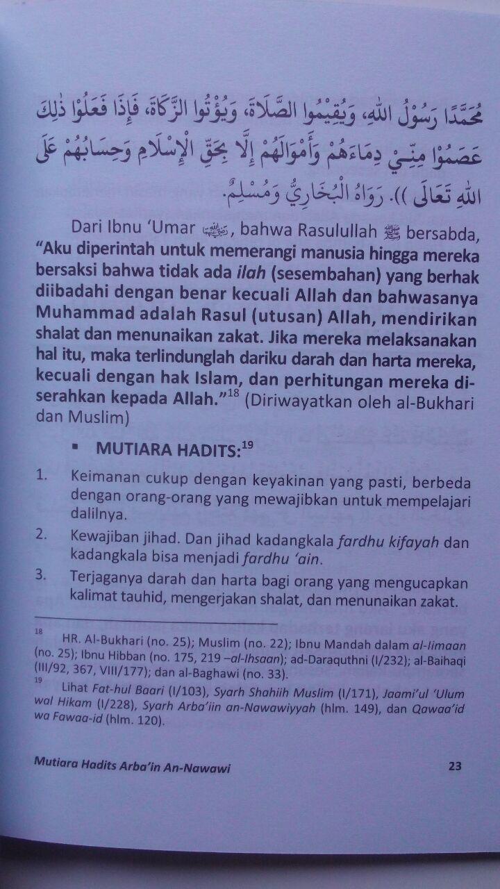 Buku Mutiara Hadits Arbain 42 Hadits Pondasi Agama 17.000 15% 14.450 Media Tarbiyah Abu Abdillah Syahrul Fatwa Al-Atsari isi