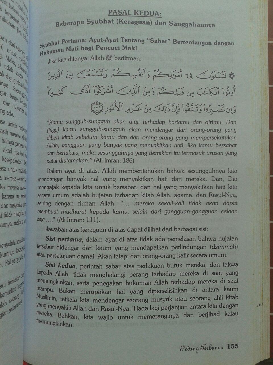 Buku Pedang Terhunus Hukuman Mati Bagi Pencaci Maki Nabi 85.000 20% 68.000 Griya Ilmu Syaikhul Islam Ibnu Taimiyyah isi 4
