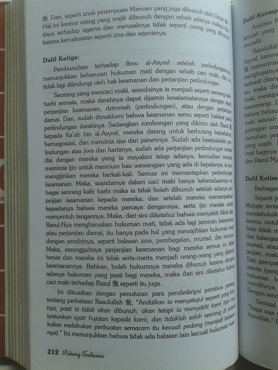 Buku Pedang Terhunus Hukuman Mati Bagi Pencaci Maki Nabi 85.000 20% 68.000 Griya Ilmu Syaikhul Islam Ibnu Taimiyyah isi