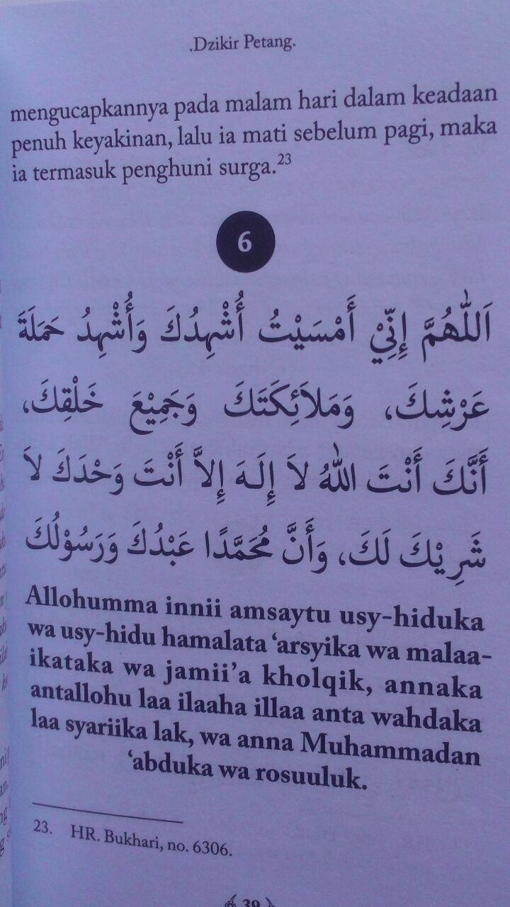 Buku Saku Dzikir Pagi Petang Setelah Shalat Fardhu Transliterasi 9.000 15% 7.650 Rumaysho Muhammad Abduh Tuasikal isi