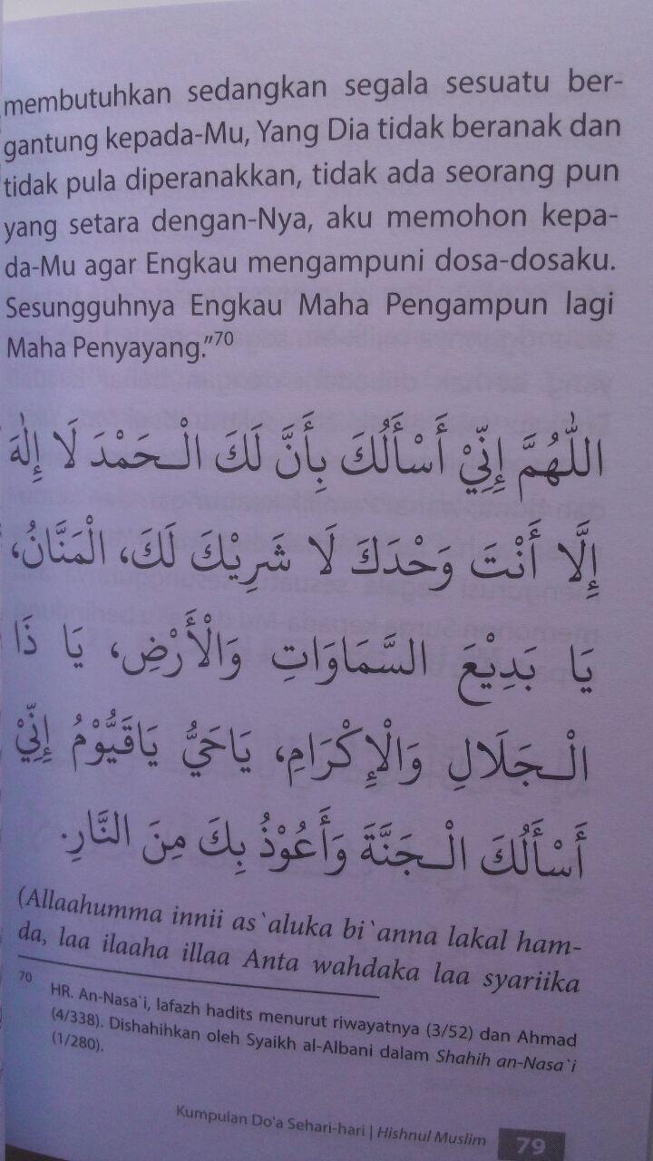 Buku Saku Hishnul Muslim Kumpulan Doa Sehari-Hari 18.000 15% 15.300 Griya Ilmu DR. Said bin Ali bin Wahf Al-Qahthani isi 3