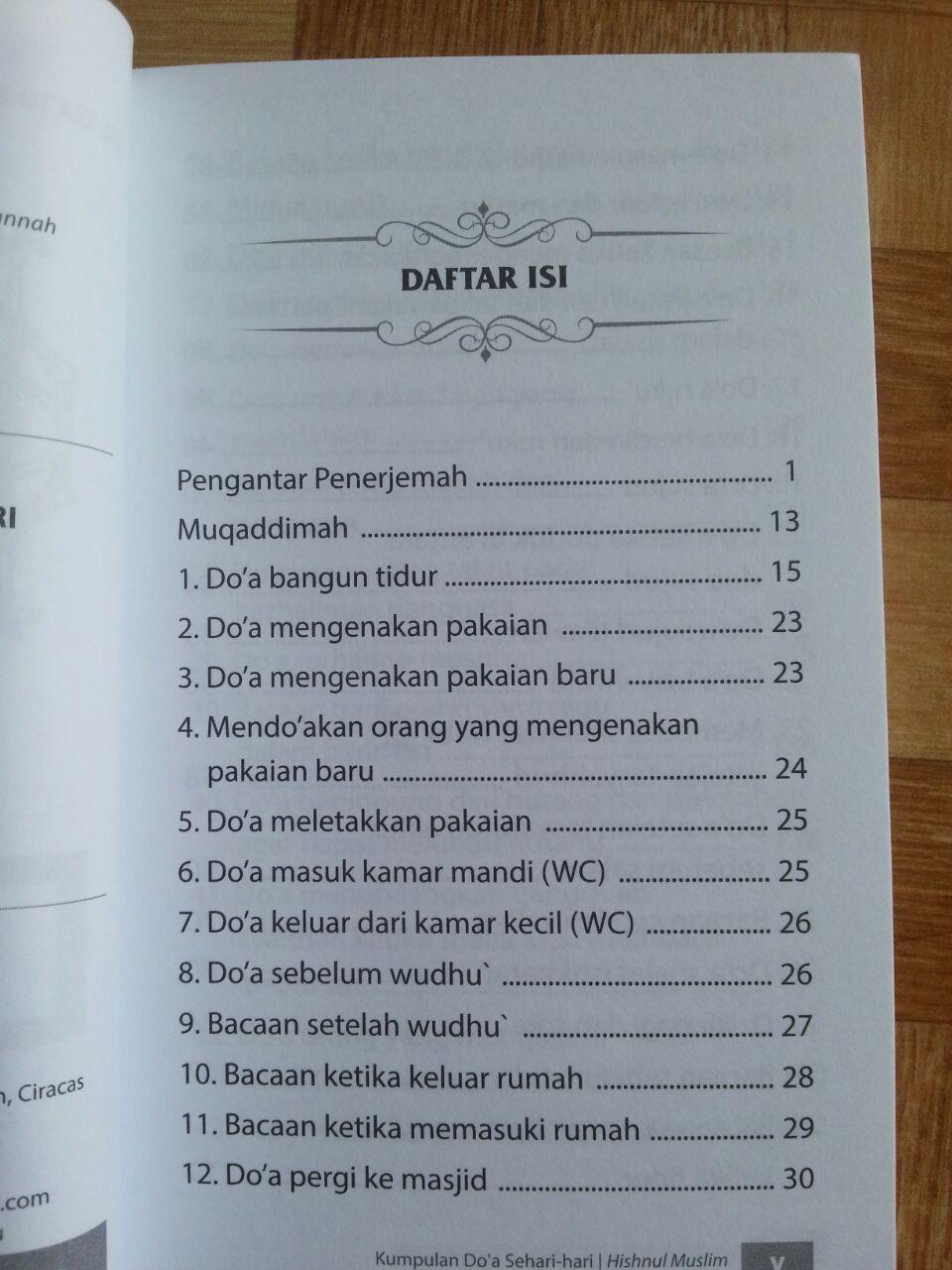 Buku Saku Hishnul Muslim Kumpulan Doa Sehari-Hari isi 2