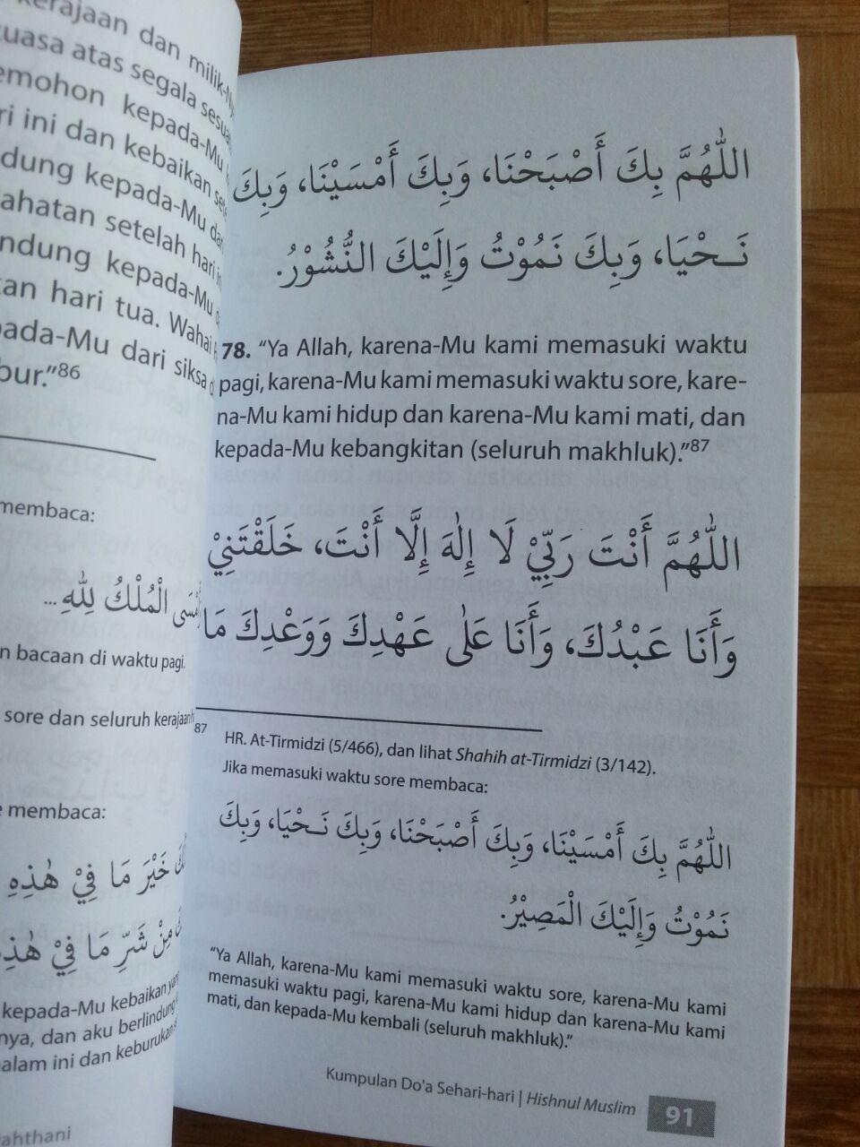 Buku Saku Hishnul Muslim Kumpulan Doa Sehari-Hari isi 3